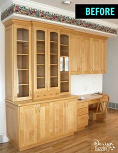 You can build a gorgeous china cabinet like in the magazines!