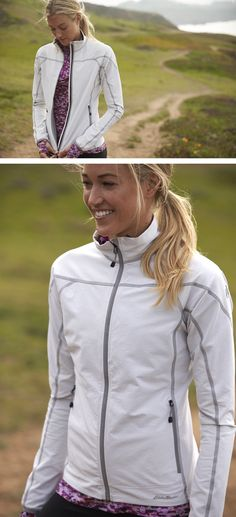 Summer adventuring can get chilly sometimes and  when it does, grab your Sandstone Softshell Jacket.  #eddiebauer