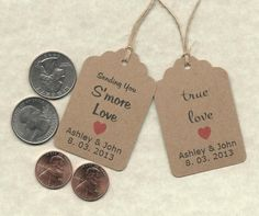 CUSTOM KRAFT PAPER Tags/ Gift by AnniesImpressions on Etsy, $12.00