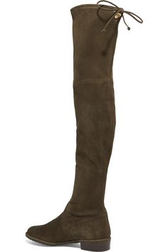 Stuart Weitzman - Lowland Stretch-suede Over-the-knee Boots - Army green