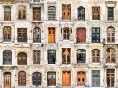 This gorgeous collection of photographic montages highlights regional similarities and differences between types and styles of door and window designs all across Europe, starting with Porto, Portug…