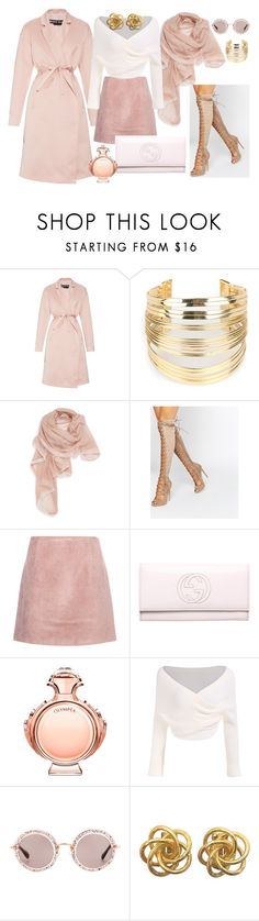 """""""ALL Winter Pink"""" by irina-mologoko on Polyvore featuring Rochas, WithChic, La Fiorentina, Daisy Street, Acne Studios, Gucci, Paco Rabanne, Miu Miu, women's clothing and women"""