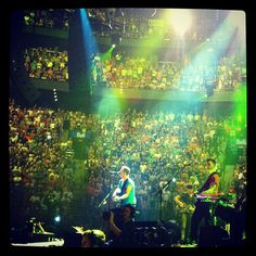 """""""Sing up, Montreal!"""" After all, we're making a Coldplay film ce soir [26.07.12] #oxfamontour #coldplay #GROW"""