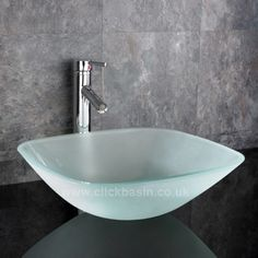 Monza 31cm Counter Mounted Square Frosted Glass Sink