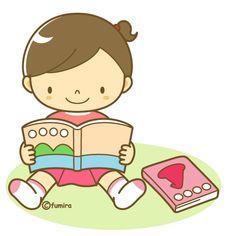絵本を読む女の子(ソフト)