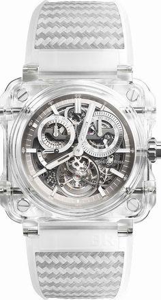 La Cote des Montres : La montre Bell & Ross BR-X1 Tourbillon Sapphire - La haute horlogerie en toute transparence