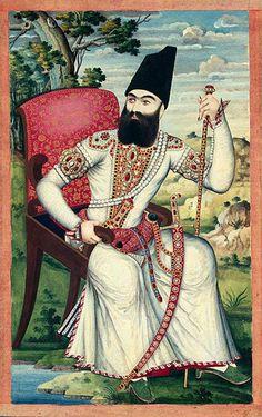 Le prince héritier 'Abbas Mirzâ, période précédant l'occidentalisation des vêtements iraniens