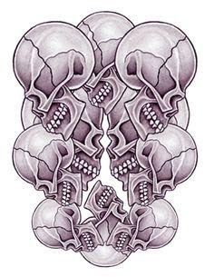 skull adn demon tattoo design img456 «SKULLS DEMONS «Flash tatto ...
