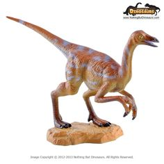 Ornithomimus - GeoWorld Jurassic Hunters Realistic Dinosaur Collectible Toy Figure Model with Educational Learning Fact Card | Nothing But Dinosaurs