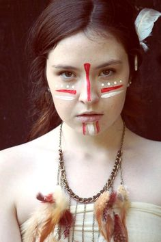 Indian Face Paint Ideas