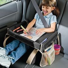 A snack/activity tray is a lifesaver on long car rides.