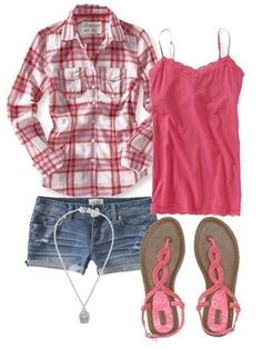 Wish | Cute Summer Pink and Denim SHort Outfit