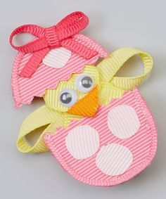 Look what I found on #zulily! Bubbly Bows Pink Egg & Chick Felt Clip by Bubbly Bows #zulilyfinds