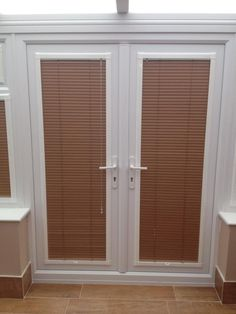 Superbe A Set Of Perfectfit Venetian Blinds In French Doors By  Http://horizonblindsblackpool.co.uk/