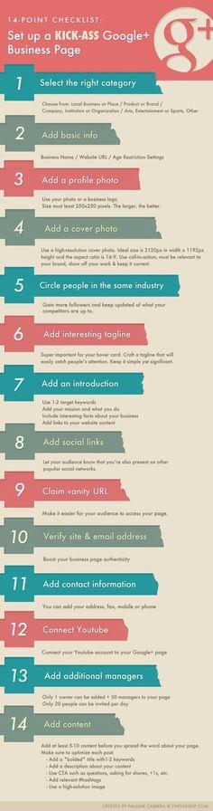 Google Plus Business Profile Checklist [Infographic]