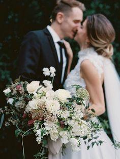 F T ♡  - Highlighting the flowers wedding couple photo