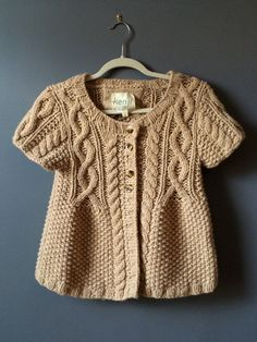 Kenji Cable Knit Wool Cardigan Vest