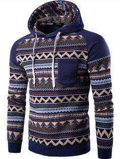2017 Mens Hombre Hip Hop Hoodie Pattern Printing Pocket Sweatshirt Slim Fit Men Hoodie