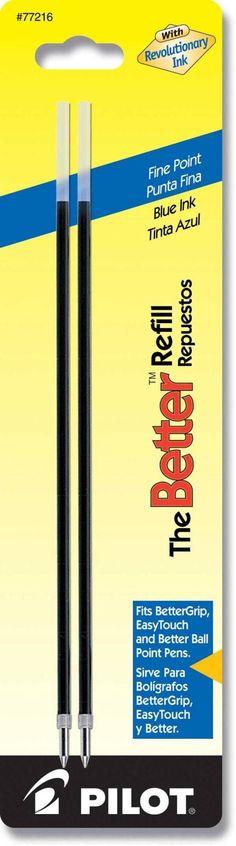 Pilot Ballpoint Better Refills - Blue Ink - Fine Point - 2 Pack