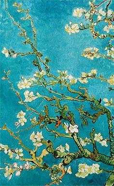 Vincent Van Gogh - From 'Almond Blossoms' Series Poster/Wallpaper Vincent Van Gogh, Van Gogh Art, Art Van, Van Gogh Pinturas, Van Gogh Almond Blossom, Post Impressionism, Foto Art, Art Et Illustration, Paintings I Love