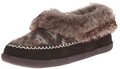 Woolrich Women's Dove Creek Mule, Java/Blanket Red Wool, 7 M US *** Click image to review more details.