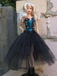 """OOAK """"Conspirator""""  goth gown for model muse Barbie"""