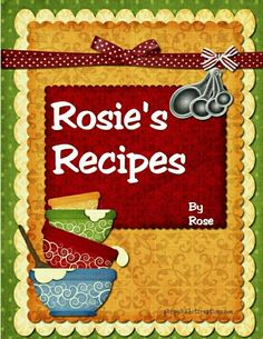 and Organizer! Recipes to Remember Blank Recipe Book to Write In Save and Treasure Your 50 Favorite Family Recipes in our 6 x 9 Size Custom Cookbook Journal