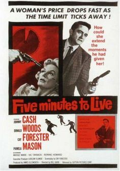 MOVIES OF '61: Did you know Johnny Cash was in a movie? FIVE MINUTES TO LIVE (directed by Bill Karn) is largely forgotten and today. Later retitled DOOR-TO-DOOR MANIAC in 1966, it (forgive the pun) cashed in on the Johnny Cash craze. The guy was a hell of an actor. The film is in the public domain and you can watch it on YouTube. It's a stark, seedy, underrated little noir. Check it out if you get a chance!
