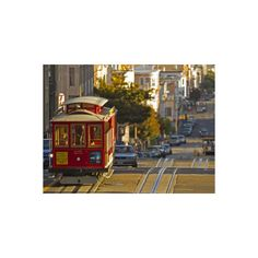 Cable Car on Powell Street in San Francisco, California, USA... ($40) ❤ liked on Polyvore featuring home, home decor, wall art, mounted wall art, home wall decor, photography wall art and wall street art