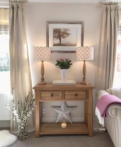 Beautiful Home Designs, Beautiful Homes, Interior Decorating, Interior Design, Cottage Interiors, Going Gray, Curtains With Blinds, Dresser As Nightstand, Home Accessories
