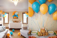 Jett's Orange and Blue Monster Party - More Food and Decorations