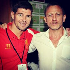 007 Daniel Craig & Steve Gerrard :) - Photo by gregoriusandry Liverpool Fans, Best Football Team, Liverpool Football Club, Football Fans, Stevie G, Liverpool History, You'll Never Walk Alone, I Love My Wife, Best Club