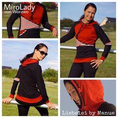 Damenhoodie MiroLady genäht von Liebelei by manue Pattern MiroLady by Worawo