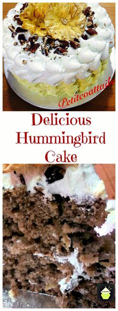 Lovefoodies cakes on pinterest moist cakes cup of tea for Table 52 hummingbird cake
