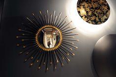 we do design.pl - Lifestyle Interior Design : Paris St Honore mirroir sorciere, bulls eye mirror, radiator moon by anthrax, fornasetti applique, fornasetti wall lamp