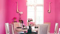 The trendy flamingo decoration in your home - 21 Pink ideas for your interior design Room Interior Design, Interior Design Inspiration, Design Ideas, Interior Ideas, Color Inspiration, Pink Dining Rooms, Flamingo Decor, Pink Flamingos, Flamingo Beach