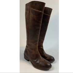 654835d9f2d2 Seychelles Shoes | Seychelles Tall Distressed Leather Boots Size 7 | Color:  Brown | Size: 7