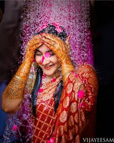 I've seen a Punjabi bride wearing a saree on her wedding day and a South Indian bride in chuda. In this amalgamation of the traditions and… Indian Wedding Couple Photography, Bride Photography, Photography Ideas, Landscape Photography, Nature Photography, Wedding Stills, Wedding Poses, Wedding Shoot, Bride Poses