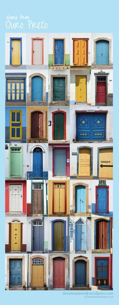 Doors from Ouro Preto/Brazil