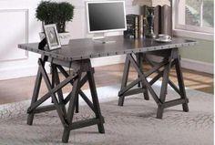 Galvanized Adjustable Writing Desk – Katy Furniture Home Office Desks, Writing Desk, Industrial, Furniture, Home Decor, Desktop, Decoration Home, Room Decor, Table Desk