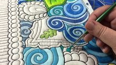 The Quilted Thistle's Coloring Quilts Tutorial: How to Paint Your Quilt...