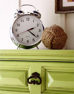 """Dresser makeover and a link in the article to a great """"glaze how-to tutorial"""""""
