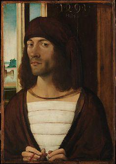 Portrait of a Man by German (Nuremberg) Painter Date: 1491 Medium: Oil on wood (47.6 x 33 cm)