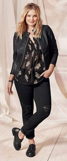 Plus Size Outfit - Shop the Look . - Plus Size Outfit – Shop the Look … Plus Size Outfit – Shop the Look More - Size 12 Fashion, Plus Size Fashion For Women, Curvy Girl Fashion, Look Fashion, Plus Size Women, Trendy Fashion, Womens Fashion, Fashion Spring, Fashion Goth