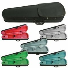 Lyra Student Violin Case Size 1/4 by Lyra. $39.99. Lyra Student Violin Case is good quality lightweight violin case for beginners. Each case features plush lining, accessory compartment, 2 bow clips, full length zippered exterior pocket, shoulder strap on back, and a side carry handle.