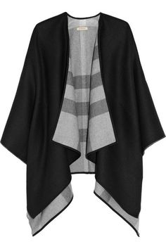 I don't think I could wear a cape very smartly, but someone could and should. (Burberry | Wool Cape)