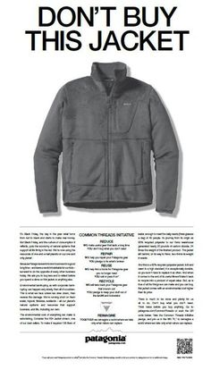 """the equivalent of saying """"don't look!"""" (then everybody looks), or something more? (love Patagonia)"""