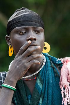 Africa   Young man from the Mursi tribe.  Southern Ethiopia   © Johan Gerrits