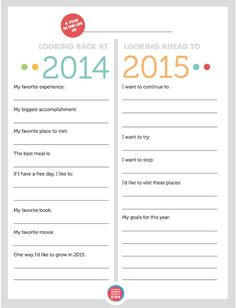 """UPDATED FOR 2015/16!! Love this FREE printablefor helping the kids to look back on their year and make goals for the year ahead - the """"I want to try"""" and """"I want to stop"""" are our favorite categories."""