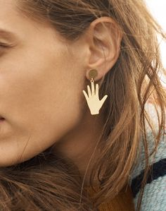 madewell hand jive earrings. statement jewelry